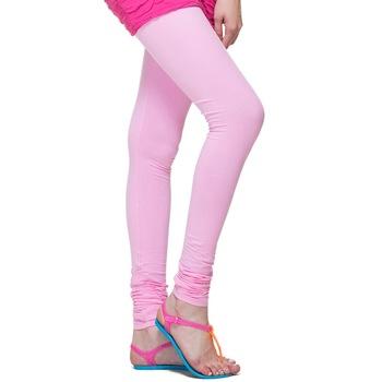 Baby Pink plain 4-Way Lycra Cotton leggings
