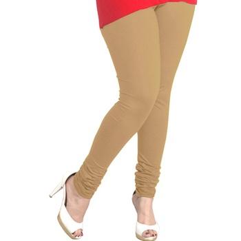 Beige plain 4-Way Lycra Cotton leggings