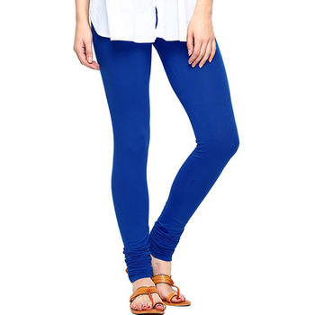 Royal Blue plain 4-Way Lycra Cotton leggings