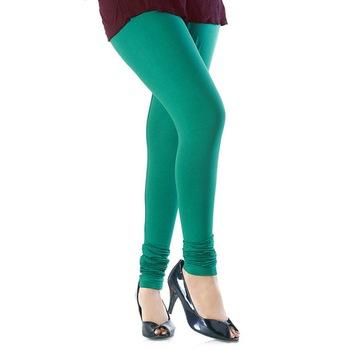 Aqua Green plain 4-Way Lycra Cotton leggings