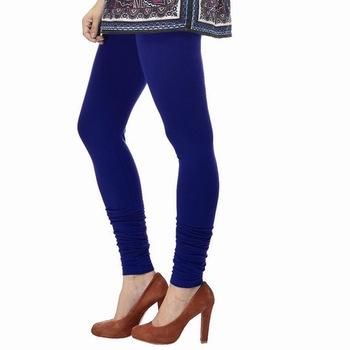 Royal Blue plain 4-Way Lycra Cotton leggings