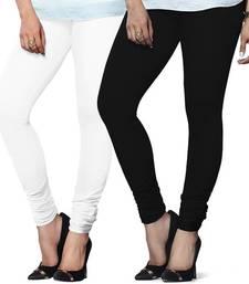 Buy Multi-Color plain 4-Way Lycra Cotton leggings legging online