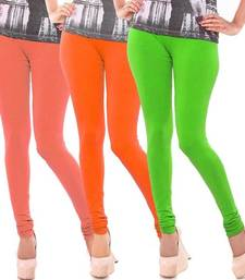 Multi-Color plain 4-Way Lycra Cotton leggings