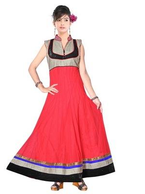 Red net readymade salwar suit