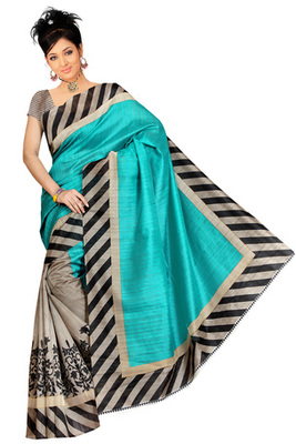 pali printed art silk saree with blouse