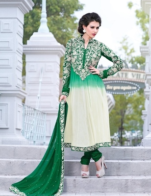 Full Embroidery Work Anarkali Suit