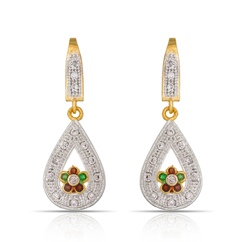 Fashionable American Diamond Studded Earrings