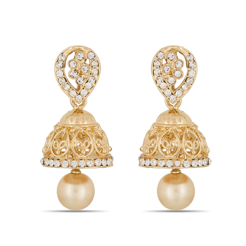 Designer Gold Plated Small Jhumer Earrings