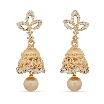 Designer Golden Small Jhumer Earrings