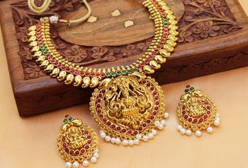 Lovelymulticolour  laxmi necklace set