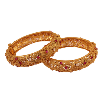 Beautiful Gold plated antique bangle