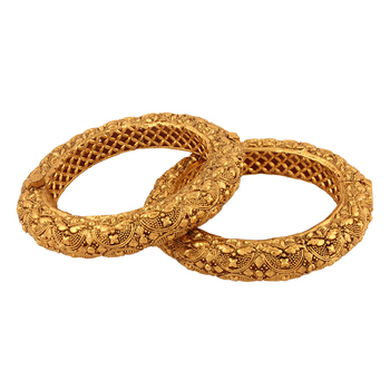 Desirable Gold plated antique bangle