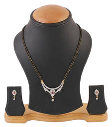 Buy Bella Gold silver_plated cubic zirconia mangalsutra anniversary-gift online