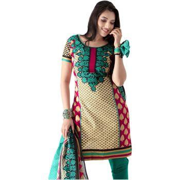 Hypnotex Cotton Black and Yellow Color Designer Dress Material Rim4013