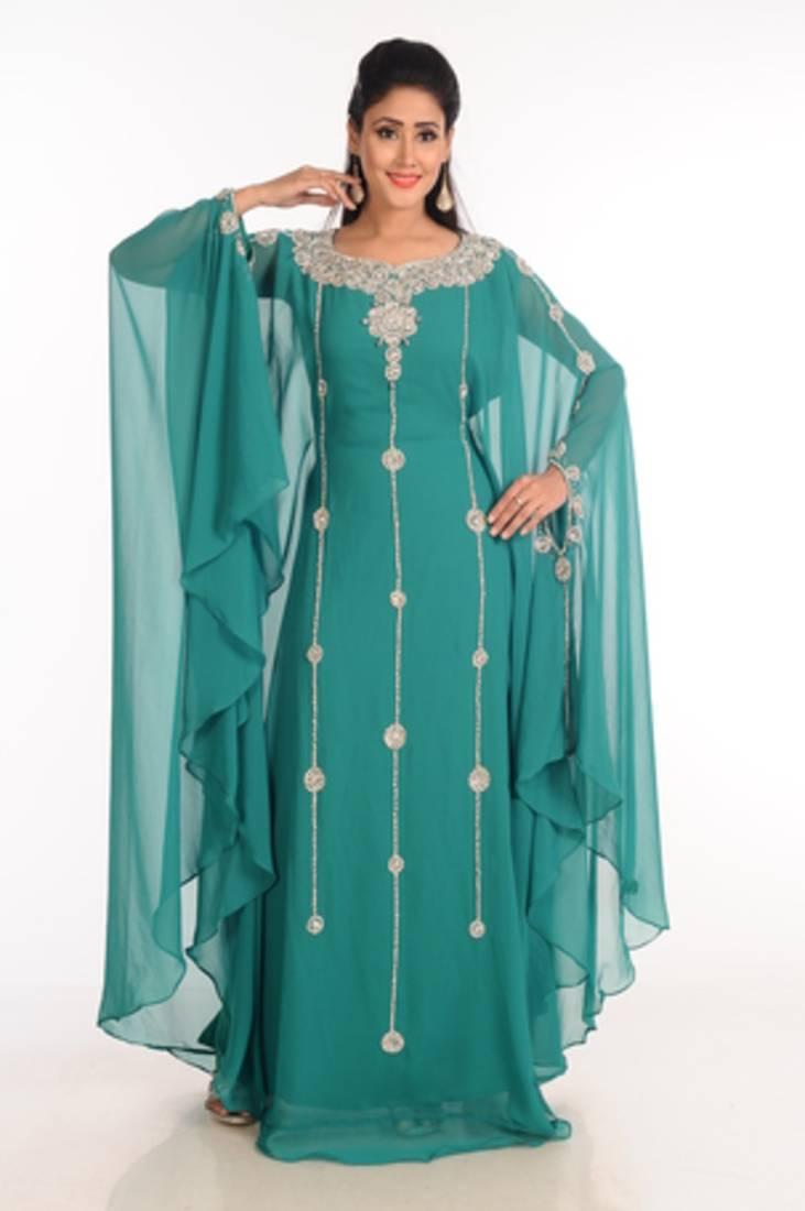 Buy Green Arabian Islamic Kaftan Online