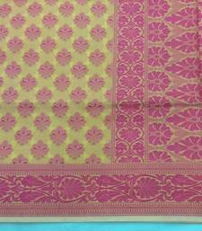 Buy Yellow hand woven banarasi saree with blouse banarasi-saree online