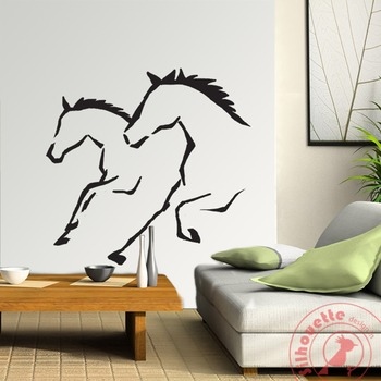Running horses 3ft by 3ft wall art