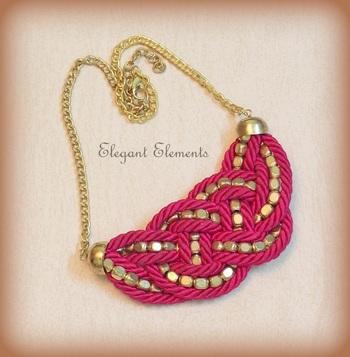BEST DEAL - Pink resham dori and golden beads necklace