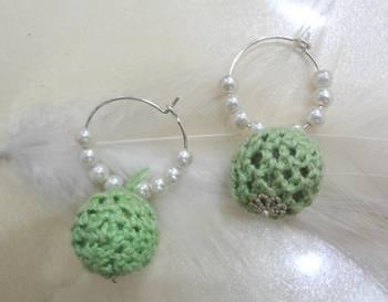 crochet baali lime green