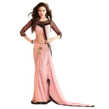 Sahiba Georgette Dusty Pink Color Designer Saree Chamcham401