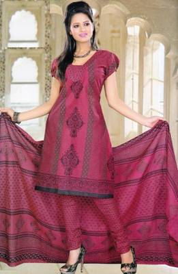 Elegant Spun Cotton Designer Unstitched Salwar Suit D.No 11101
