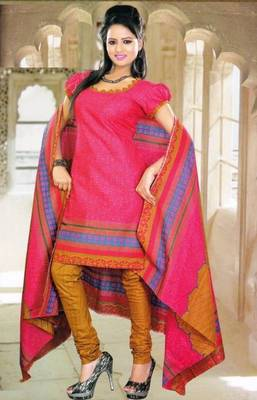 Elegant Spun Cotton Designer Unstitched Salwar Suit D.No 11103