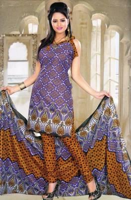 Elegant Spun Cotton Designer Unstitched Salwar Suit D.No 11105