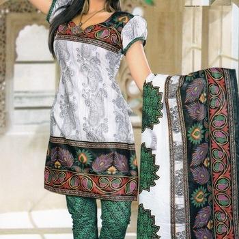 Elegant Spun Cotton Designer Unstitched Salwar Suit D.No 11107