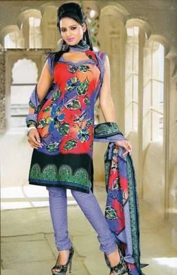 Elegant Spun Cotton Designer Unstitched Salwar Suit D.No 11111
