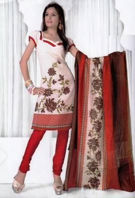 Elegant Spun Cotton Designer Unstitched Salwar Suit D.No 3087