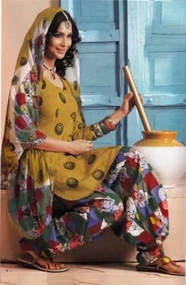 Elegant Lawn Cotton Designer Unstitched Salwar Suit With Chiffon Dupatta D.No BPK1003