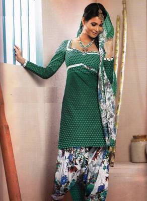 Elegant Lawn Cotton Designer Unstitched Salwar Suit With Chiffon Dupatta D.No BPK1011