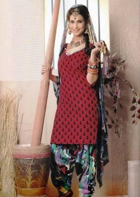 Elegant Lawn Cotton Designer Unstitched Salwar Suit With Chiffon Dupatta D.No BPK1013