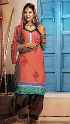 Elegant Lawn Cotton Designer Unstitched Salwar Suit With Chiffon Dupatta D.No BPK1014