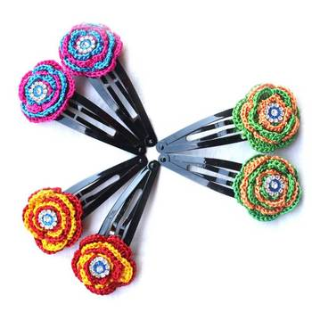 Exclusive: Hair Pins with Crochet Motifs | 3 Pairs | Multicolor