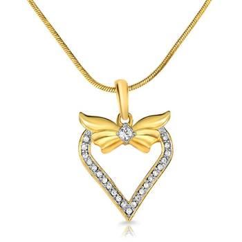 Mahi Gold Plated Love N Liberty Pendant