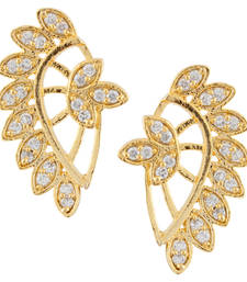 Buy White  Gold Plated CZ Cuff Earring stud online