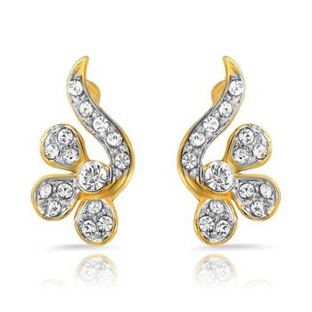 Mahi Gold Plated Awe Inspiring Pendant Earrings