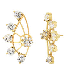 White  Gold Plated CZ Cuff Earring shop online