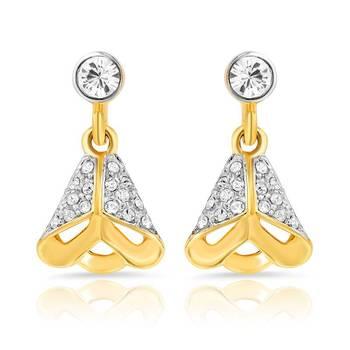 Mahi Gold Plated Exuberant Beauty Earrings