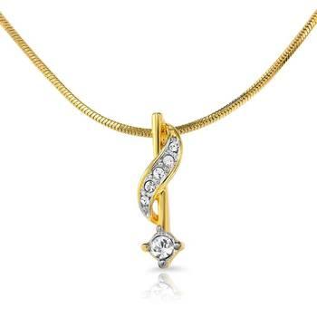 Mahi Gold Plated Sparkling Star Pendant