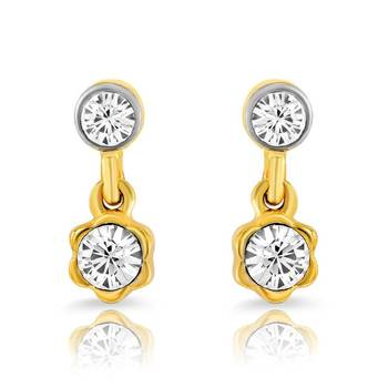 Mahi Gold Plated Pristine Beauty Earrings