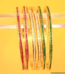 Buy Tri-Colour Semi Precious Bangles bangles-and-bracelet online