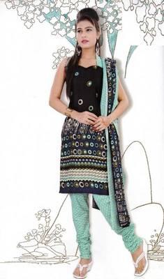 Elegant Dress Material Jute Cotton Designer Prints Unstitched Salwar Kameez Suit D.No 6207