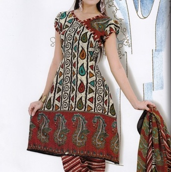 Elegant Dress Material Jute Cotton Designer Prints Unstitched Salwar Kameez Suit D.No 6209