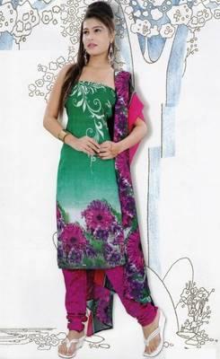 Elegant Dress Material Jute Cotton Designer Prints Unstitched Salwar Kameez Suit D.No 6218