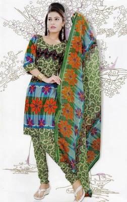 Elegant Dress Material Jute Cotton Designer Prints Unstitched Salwar Kameez Suit D.No 6220