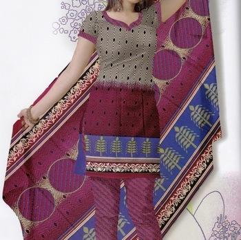 Elegant Dress Material Jute Cotton Designer Prints Unstitched Salwar Kameez Suit D.No 6223
