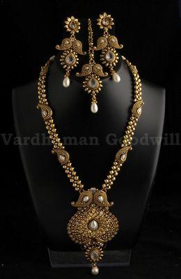 exclusive polki jaipuri necklace with earrings