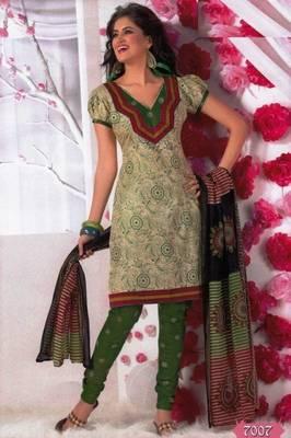 Elegant Dress Material Cotton Designer Prints Unstitched Salwar Kameez Suit D.No BN7007